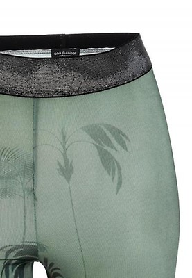 e8ed9630c425cb Green white blue Jersey leggings Polxena with Asia-Flowers   Ana Alcazar