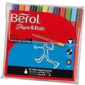 Berol Colour Broad Feutres de Coloriage Pointe Large 1,2 mm Assortiment de Couleurs Lot de 42