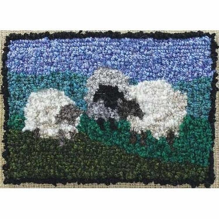 Rug Hooking Kit - Lay Down Sheep