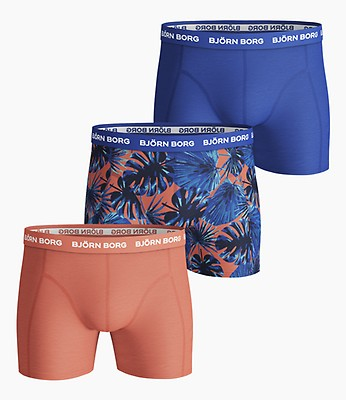 Björn Borg Mens 3-Pack Shorts BB Digi Leaf Essential Boxer Briefs
