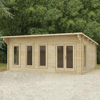 Forest Wolverley 6x4m Log Cabin Garden, Outdoor Sheds Cabins