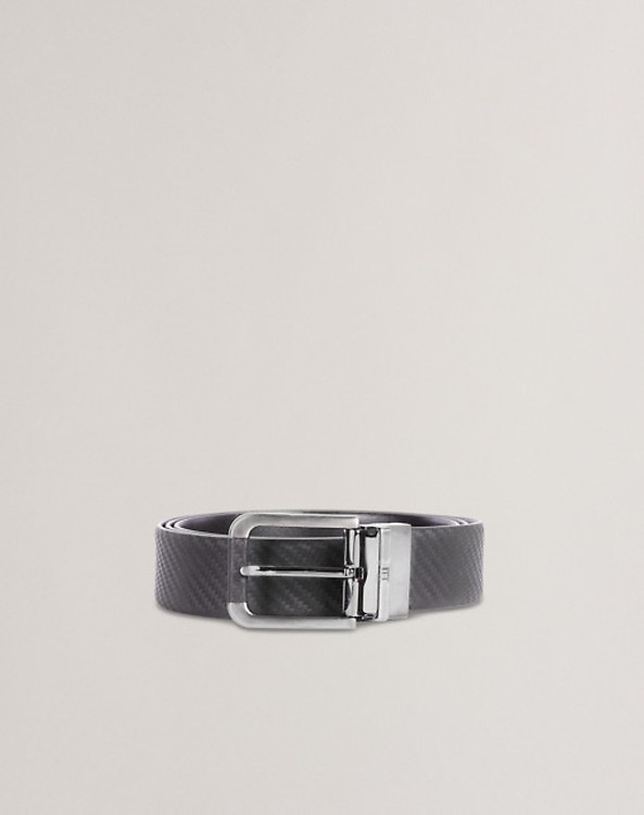 5cab5e764a2 Men s Black Classic Reversible Buckle Smooth Leather Belt