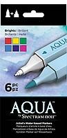 Spectrum Noir Aqua Artist/'s Water Based Dual Nib Marker Colouring Pens Earth...