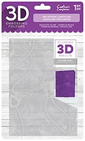 """Crafter/'s Companion 3D Embossing Folder 5/""""X7/""""-Floral Fusion"""