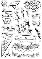 Silver Sara Signature Rose Gold Collection-Metal Die-Happy Birthday One Size