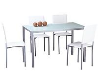 Conjunto mesa y 4 sillas de cocina VERSALLES Natura y Blanco ...