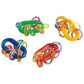 Out of This World Parrot Foot Toy Criss-Crossed Fun Colourful Rubber Loops