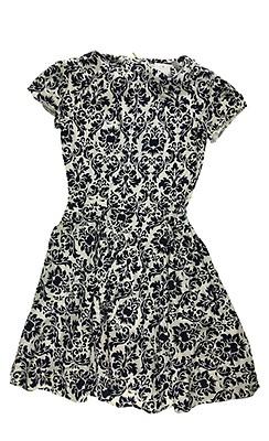 Kuviollinen mekko MustaValkokuvioinen NAISET | H&M FI