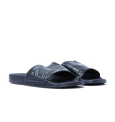 8739b629a Emporio Armani Navy Beach Slide Sandals