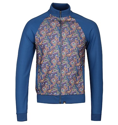be39ac0757c0 Pretty Green Vintage Paisley AOP Tracksuit Top