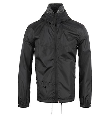 4295f4904c13 Pretty Green Darley Black Weather-Proof Hooded Jacket