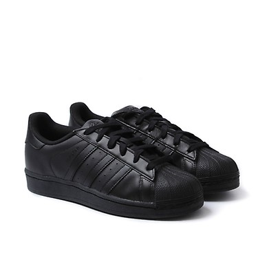 0df9335af3a547 Adidas Originals Superstar Foundation Black Leather Trainers ...