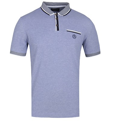 Henri Lloyd Highland Oxford Mid Blue Polo Shirt