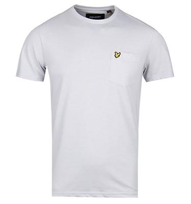 87aa369647e1de Lyle   Scott Light Grey Marl Pocket T-Shirt