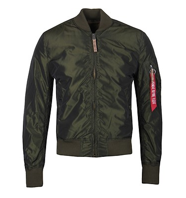 67f1888a4f47 Alpha Industries MA-1 Iridium Dark Green Jacket offer label