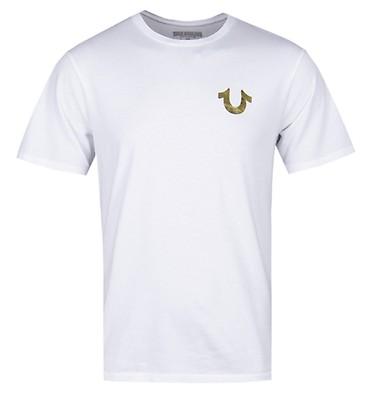 ced4ae145fa7c6 True Religion Gold Buddha White T-Shirt