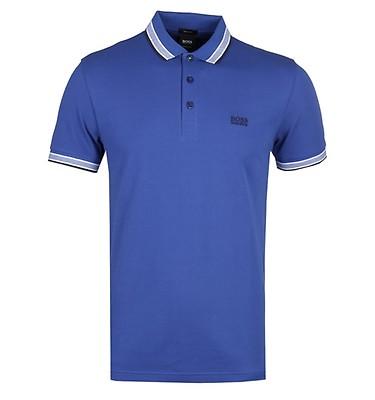 fb4458afe BOSS Paddy Deep Blue Tipped Polo Shirt ...