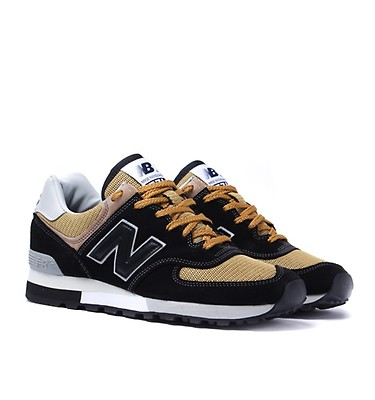 44bb13cc6 New Balance M576 Black   Yellow Made In England Trainers ...