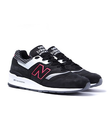 buy popular 475ec 88c9c New Balance 997 Made in the USA Black Contrast Trainers ...
