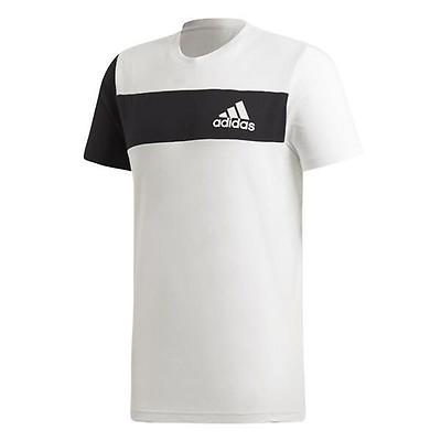 Adidas QQR Performance Tee Herren T-Shirt Logo Freizeit Men gold//silber schwarz