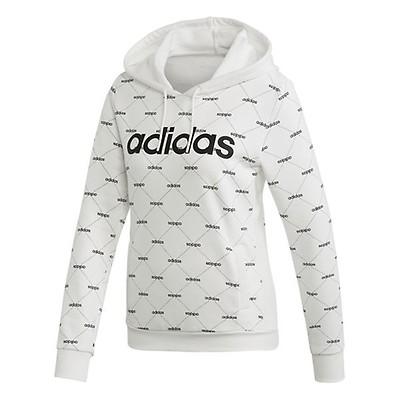 adidas Linear Graphic Hoody Damen pinkschwarz