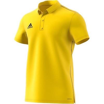 adidas Core 18 Herren Poloshirt Polohemd Polyester dunkelblau//weiß CV3589