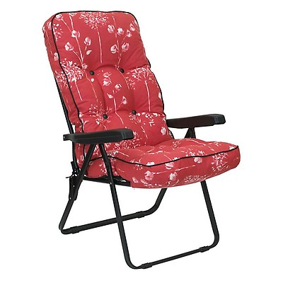 2aa7e0571713 Glendale Deluxe Country Teal Recliner Garden Chair   Shedstore