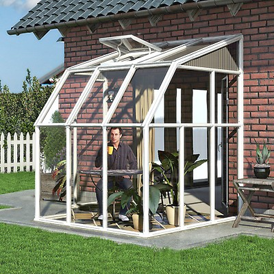 8'x12' (2 4x3 6m) Palram Rion Clear Sun Room | Shedstore