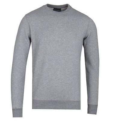 1e0274830575 Emporio Armani Grey Marl Cotton Blend Logo Sweatshirt ...