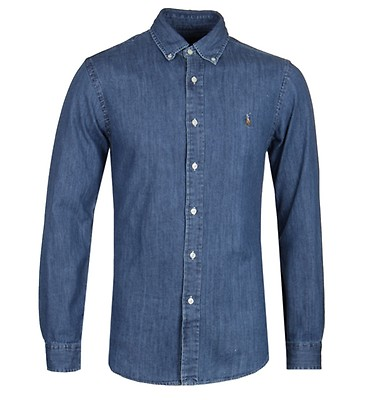 e791b6ec4cc32 Polo Ralph Lauren Slim Fit Chambray Shirt ...