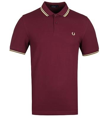 967dbd174 Fred Perry M3600 Aubergine Polo Shirt ...