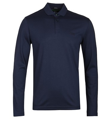 83094565 BOSS Pirol Navy Long Sleeve Polo Shirt offer label
