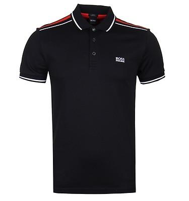 BOSS Slim Fit Paule Black Polo Shirt ... 17ce96feae3a