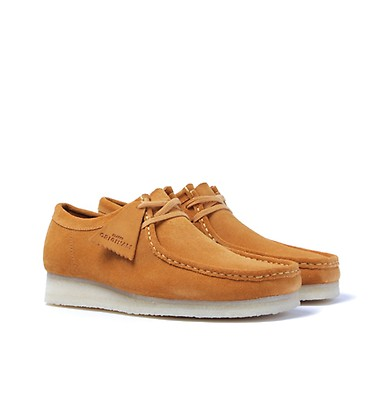 6994b4a5f3c Clarks Originals Wallabee Turmeric Suede Shoes offer label