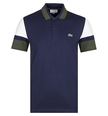 c6dfac69e Lacoste Slim Fit Banded Sleeves Navy Polo Shirt offer label