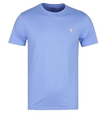 c1271f433 ... Crew Neck White T-shirts. £30.00. Polo Ralph Lauren Custom Slim Fit Sky  Blue T-Shirt ...