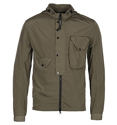 85d463e18fbbd CP Company Hooded Button Front Chrome Khaki Overshirt ...
