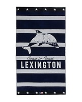 5d161209 Lexington Summer Graphic Velour Beach Towel 100% Bomull 100 x 180 cm Blue/ White