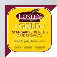 Loxley Gold 16 x 16-inch 40 x 40 cm 18 mm Square Traditional Depth Stretched
