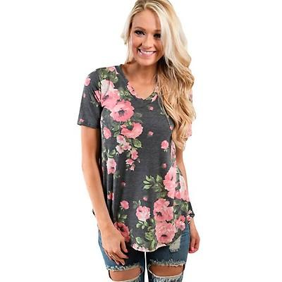 Demi t-paita kukkakuvio harmaa 1335d394e3