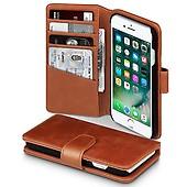 Apple iPhone 7 8 Äkta Läder Plånboksfodral Ljusbrun 0e34f7e0123b6