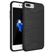 iPhone 7 8 Plus Skal Hårdplast TPU Kombination med Kortfack Svart 22245731f2d81