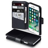 Apple iPhone 7 8 Äkta Läder Plånboksfodral Svart 5e8090f8188ca