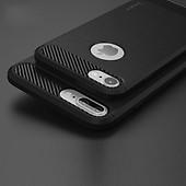 Ipaky Mobilskal till iPhone 7 8 Plus TPU Kolfibertextur Borstad Svart be0d9aba98c59