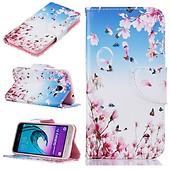 Samsung Galaxy J3 2016 Mobilfodral Kortfickor Rosa Blommor 290eddc994584