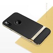 ROCK Royce Series till Apple iPhone X Xs Skal Hårdplast TPU Svart Guld 6cfc0e89b9a32