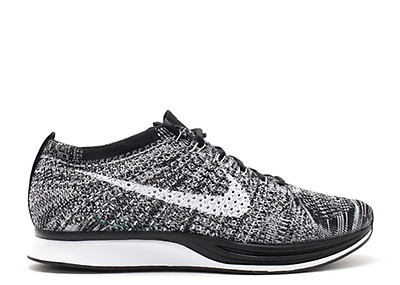 ad137d3a8e1 FLYKNIT TRAINER - Nike - ah8396 005 - black white-white