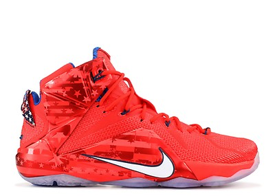 3117f3935a447 Lebron 12 - Nike - 684593 830 - laser orange bright crimson