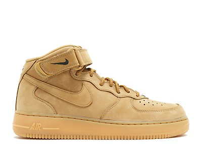 Nike Air Force 1 Mid Flax Wheat Size 10 Tan '07 DS | eBay