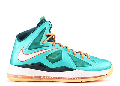 quality design 4f534 1617b orange lebron 10 with green sole